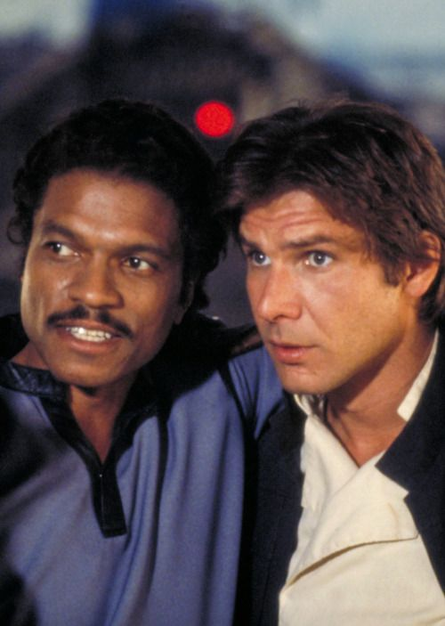 """filmhall:  """" Billy Dee Williams & Harrison Ford in The Empire Strikes Back  """""""