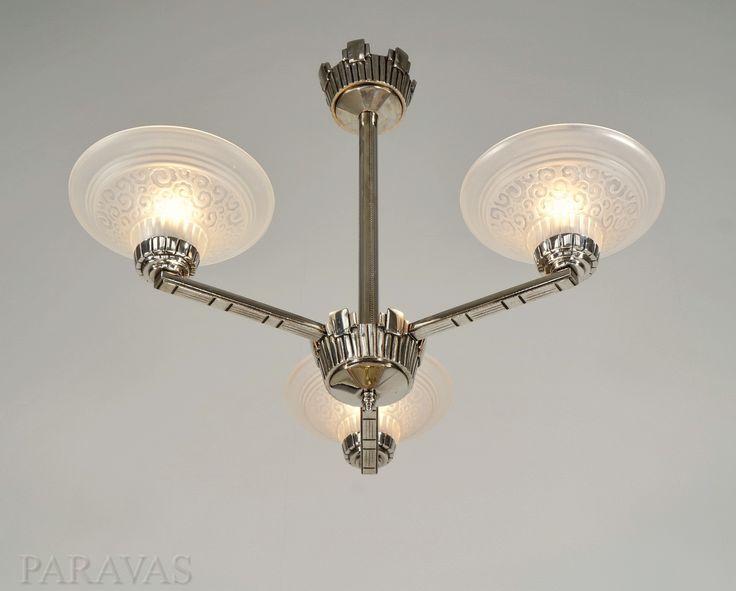 Muller freres lustre art déco french art deco chandelier paravas ebay