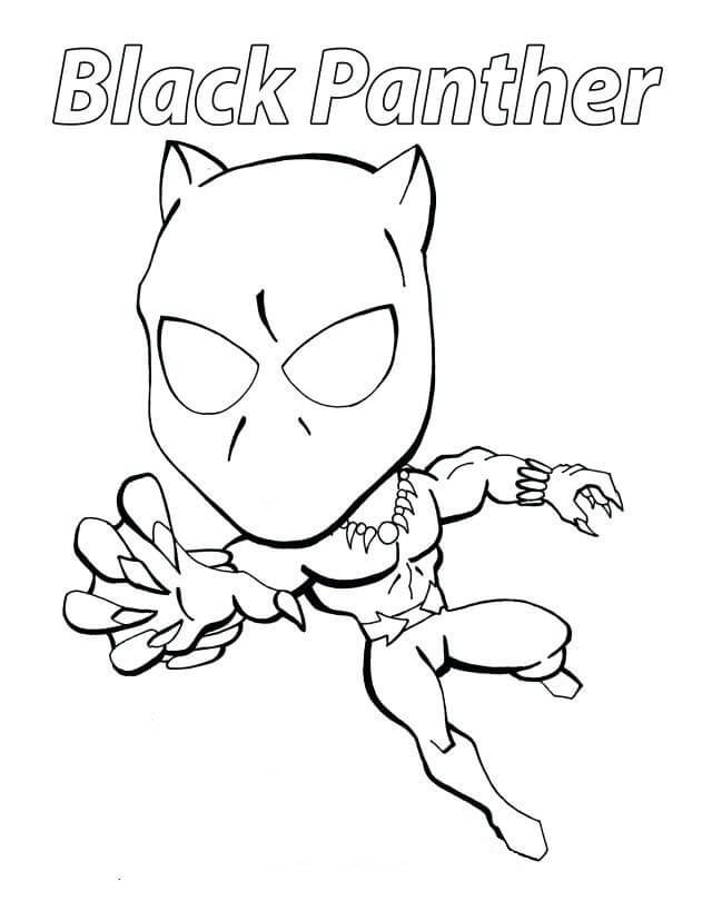 Free Printable Black Panther Coloring Pages Superhero Coloring