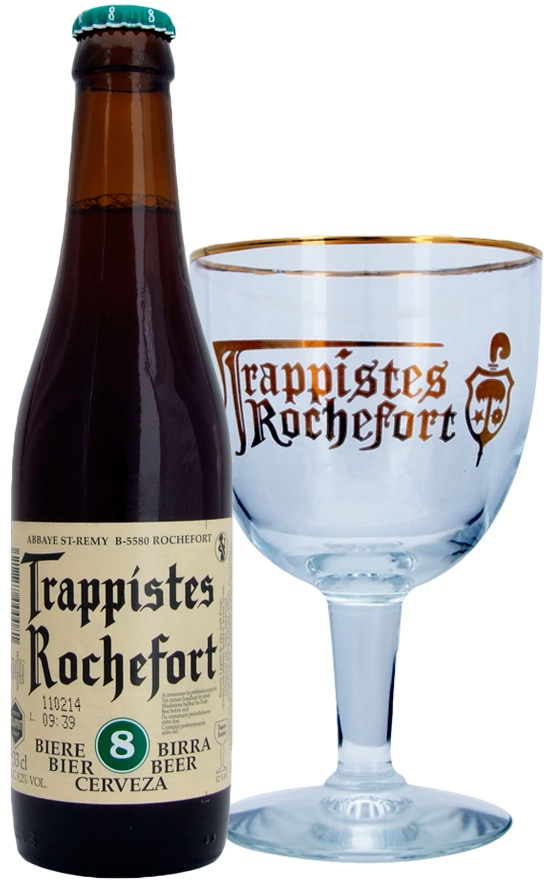 Rochefort Beer 8%, Abbey Notre-Dame of Saint-Remy (Rochefort), Wallonia, Belgium