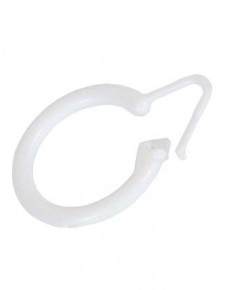 Gardinring til bad af hvid plast
