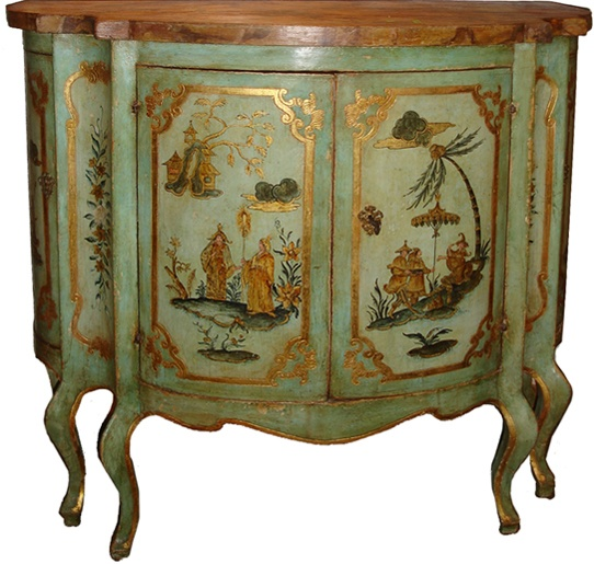 chinoiserie painted chest