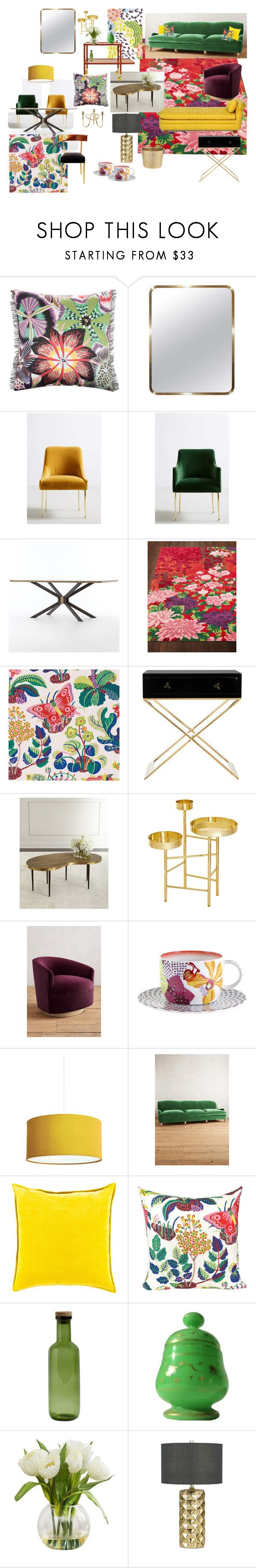 """My Mothers living room"" by lipe-1 on Polyvore featuring interior, interiors, interior design, home, home decor, interior decorating, Missoni Home, Paul Frank, Anthropologie and Safavieh"