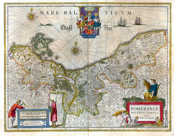 Map of the historical Duchy of Pomerania from 1635