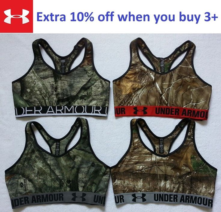Details about NEW Under Armour Women Camo Sports Bra Top Gym Fitness Yoga Size L