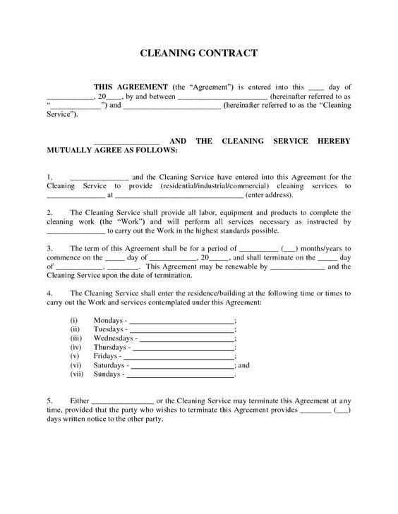 Work Contract Agreement Form Employee Training Contract