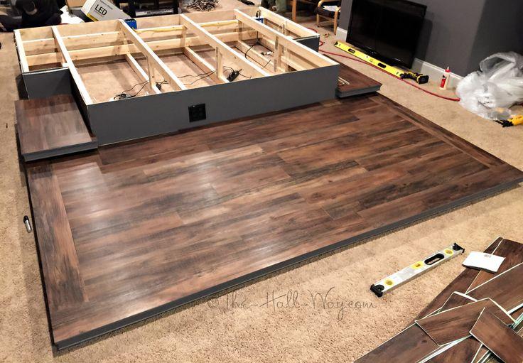DIY Home Theater Platform - Flooring