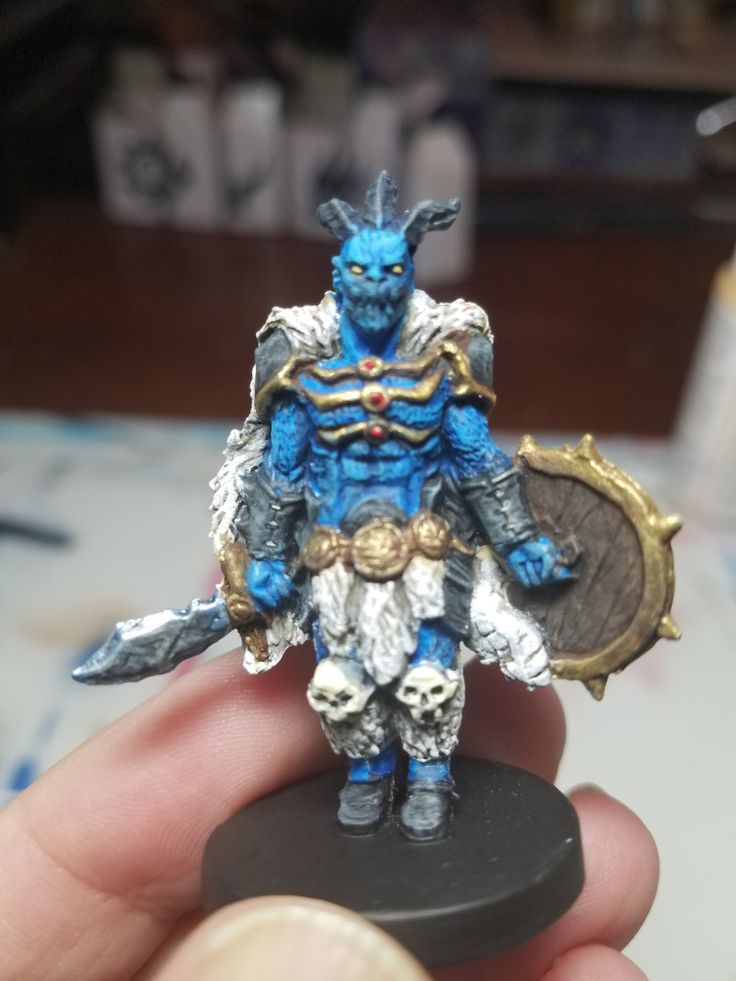 Gloomhaven Brute miniature Love the blue Painted