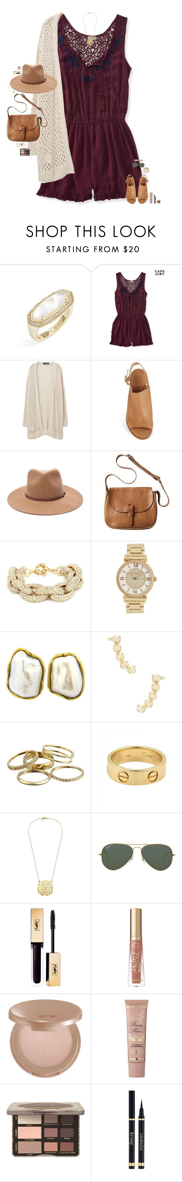 """""""I don't know how to talk to you. I just know I found myself getting lost with you."""" by maggie-prep ❤ liked on Polyvore featuring Kendra Scott, Aéropostale, Violeta by Mango, Kate Spade, Forever 21, Toast, Michael Kors, Tiffany & Co., Cartier and Ray-Ban"""