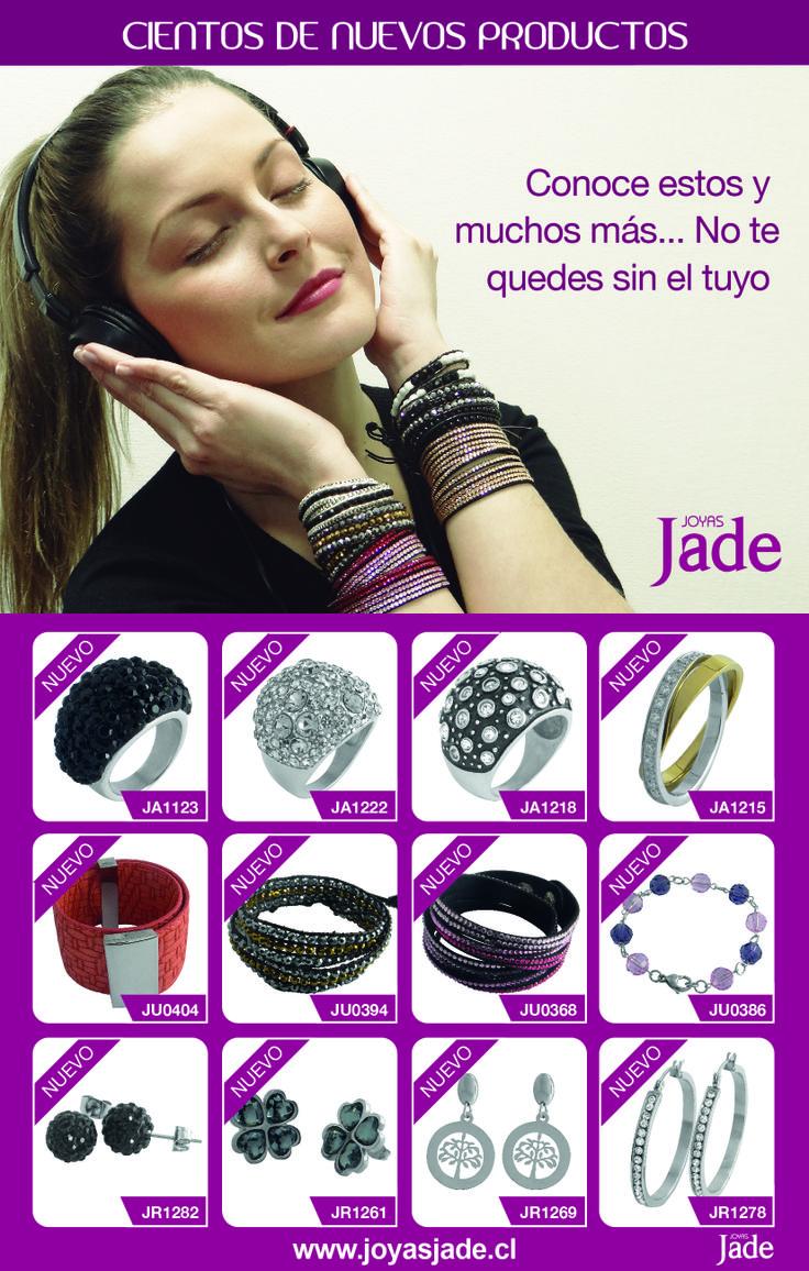 """Lo que todas estaban esperando!!!! Joyas Jade trae NUEVAS JOYAS PARA TI!!!!  Conoce todos nuestros productos nuevos ingresando en http://www.joyasjade.cl/nuevo.php También hemos creado en nuestro sitio web los """"sets"""" especiales para que armes tus propios conjuntos de joyas y puedas combinarlos como quieras!!! http://www.joyasjade.cl/nuevo-sets.php"""