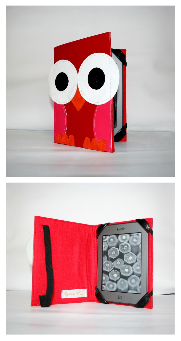Happy leather Cover - Owl // Outside 100% leather