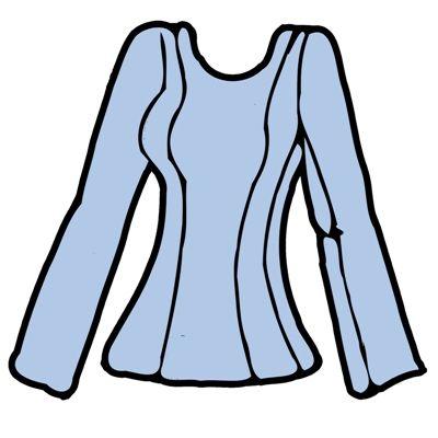 ... Střihy na oblečení  ...: Halenka, princesový střih
