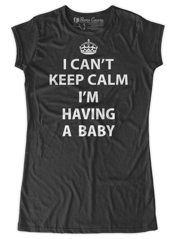 I can't keep calm i'm having a baby funny Maternity T-Shirt Clothes Top - Classic rock punk look - Made From Bamboo - SUPER Soft & Stretchy on Etsy, $24.99