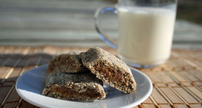 Biscuits aux figues, sans gluten et sans cuisson