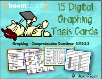 This deck includes 15 digital task cards that cover the topic of comprehension questions about picture graphs, tally charts and there is 1 lined bar graph. Boom Learning is an awesome software that is made by teachers for teachers. Your students can log into their
