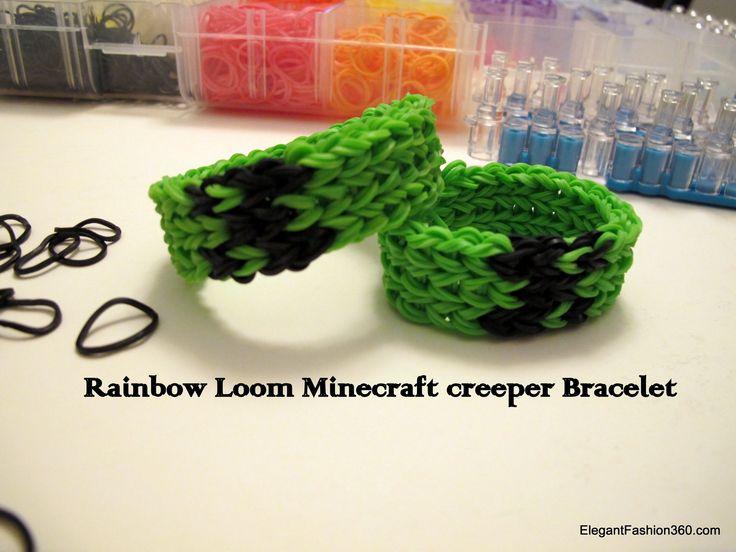 How to make Minecraft Creeper Bracelet on Rainbow Loom