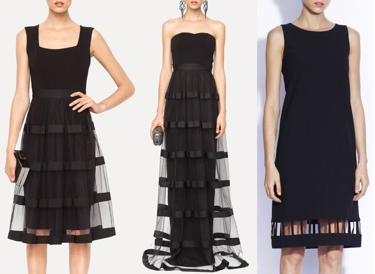 rochii de seara negre din tulle sau cu decupaj