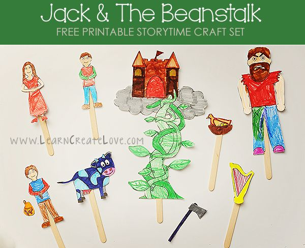 Printable Storytime Craft: Jack and the Beanstalk | LearnCreateLove.com
