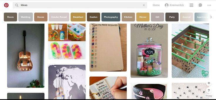 Pinterest users have access to millions of do it yourself ideas. Through Pinterest, people from all over the world can view and share numerous pins that propose new ideas from different categories that target male and female audience.