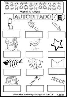 Autoditado para alfabetização com a letra E