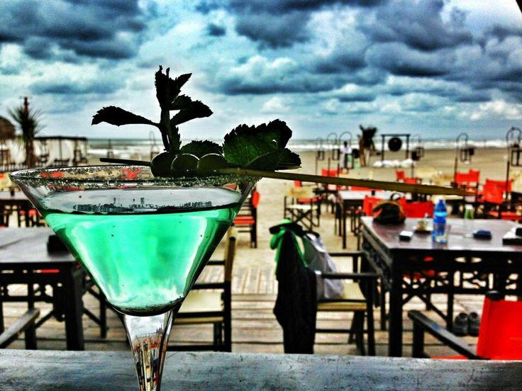 Green cocktail Singita the miracle beach Fregene Italy, Rome