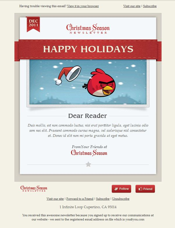 1000 images about email design inspiration on pinterest for Christmas newsletter design ideas