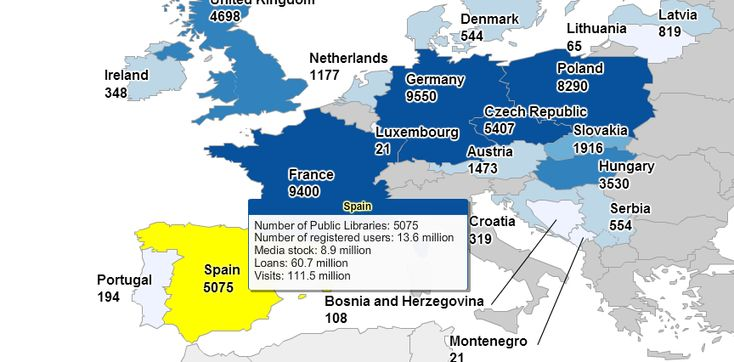 Reino Unido es el país que más visitas recibe en sus Bibliotecas Públicas con un…