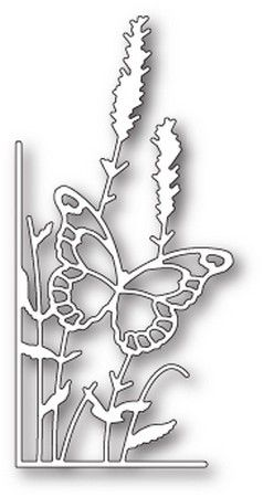 Memory Box - Dies - Lavender Butterfly Left Corner