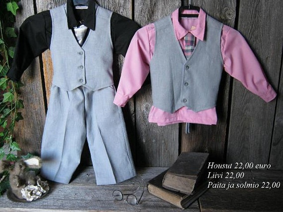 Boys first birthday outfit linen suit by englaCharlottaShop, €66.00
