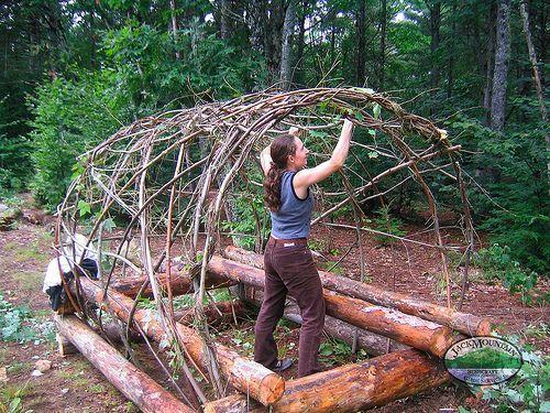 The Jack Mountain Bushcraft Blog - Bushcraft Shelter Photo Gallery