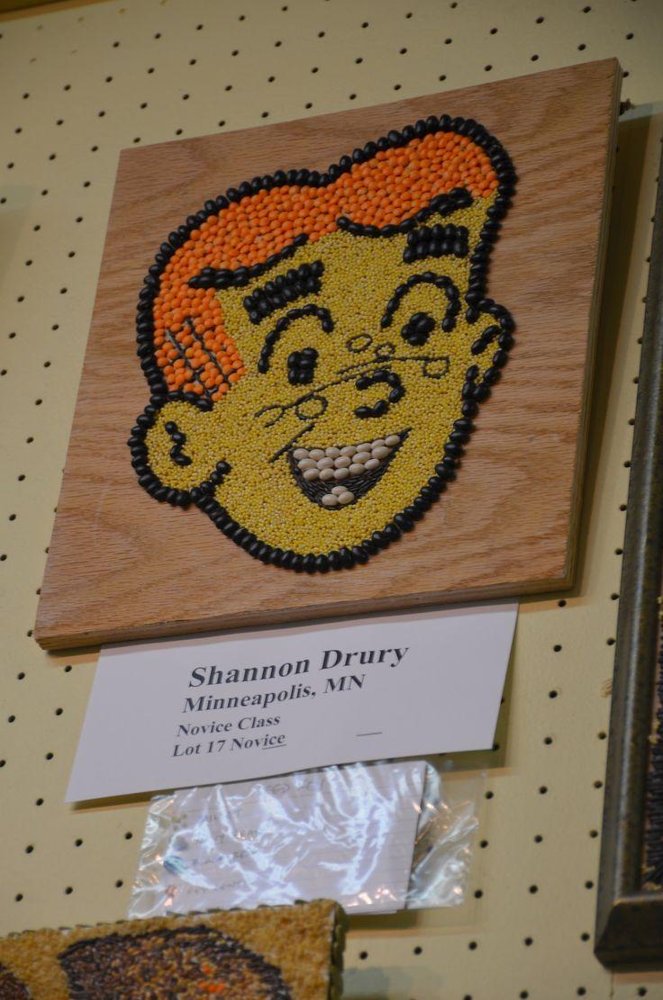 MN State Fair Crop Art: Archie cartoon character