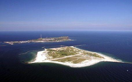 Luftaufnahme der einzigartigen Hochseeinsel Helgoland