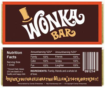 Wonka bar template! Xox | 》D.I.Y《 | Pinterest | Bar and ...