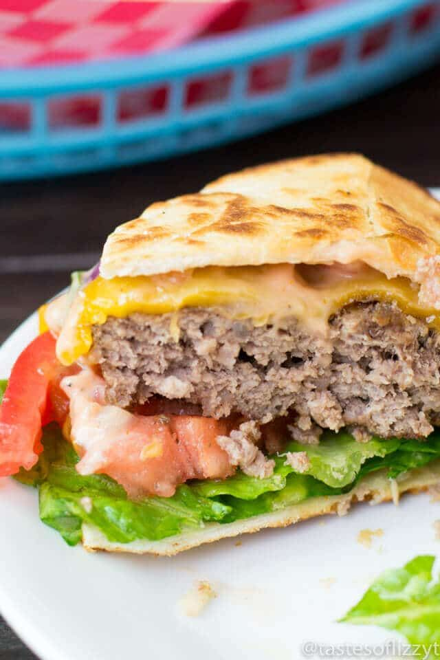 Quesadilla Burger - Copycat Hamburger Recipe