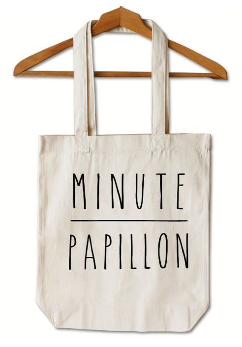 "Tote Bag  ""Minute papillon"""