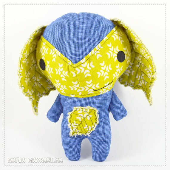 Jolly Avellana  stuffed toy for children blue by MariaMascarilha