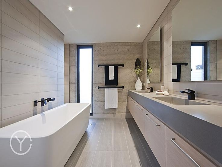 76 best images about bathrooms on pinterest spa baths for Modern family bathroom ideas