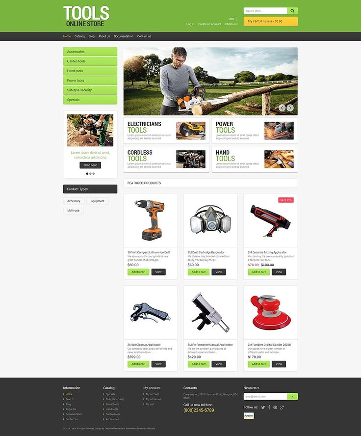 The Best Home Repair, Contractor & DIY Store Themes for Shopify - CoolTools (theme) Item Picture