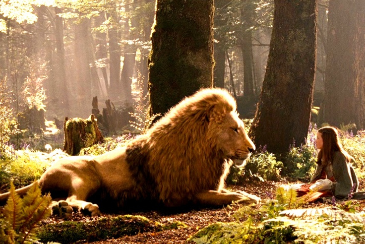 Narnia. love it when Aslan & Lucy are together
