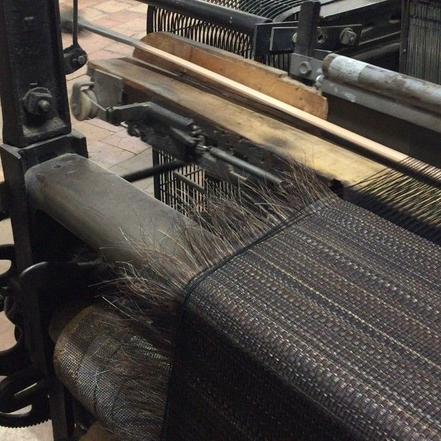 Yes Horse hair fabrics are still woven by hand... On a modernized 15th century loom... No horses are harmed in the process... They are just getting a quick trim #lecrin #creationsmetaphores