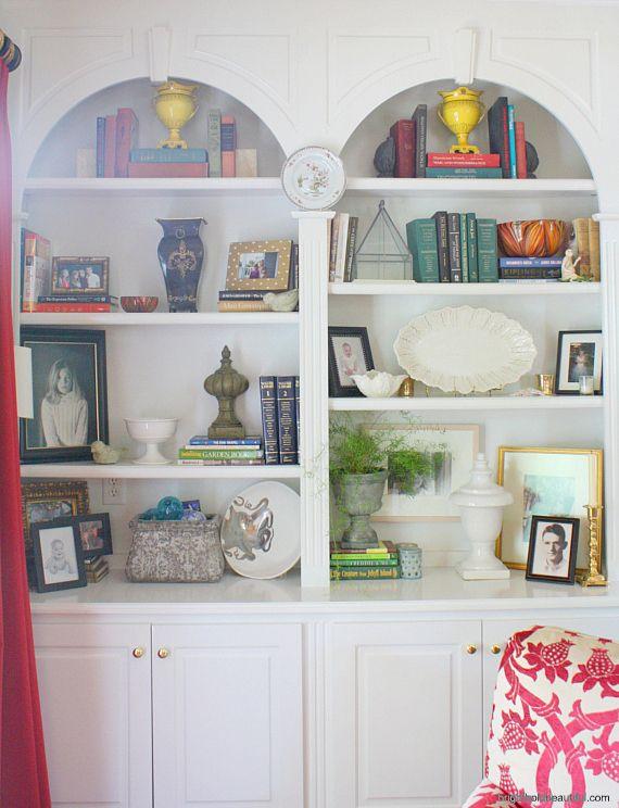 Bookshelf Styling - Home Ideas - Bright Bold and Beautiful Blog
