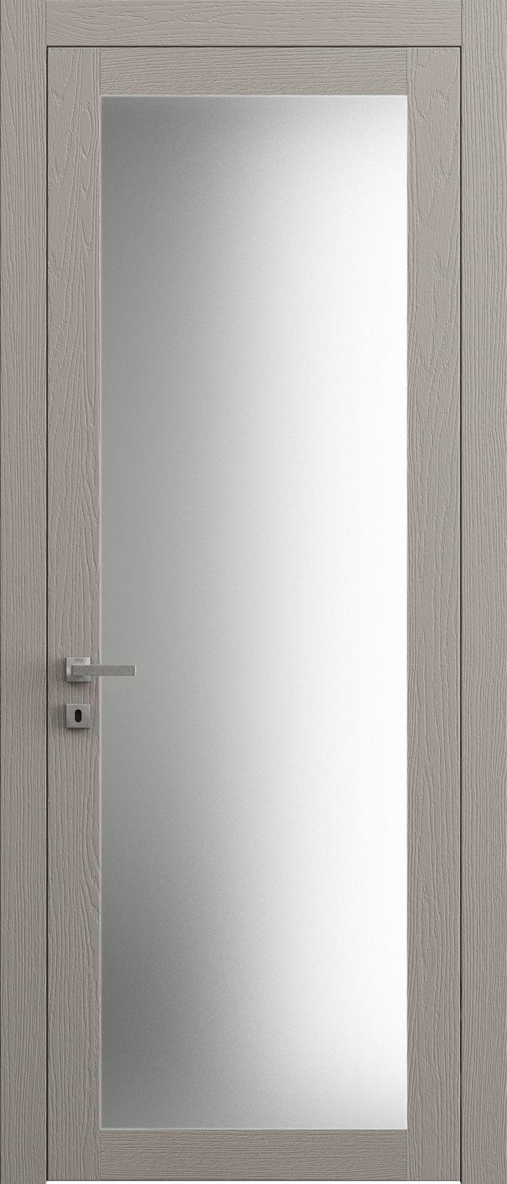 Sarto Planum 2102 Interior Door Dark Gray Ash Vertical