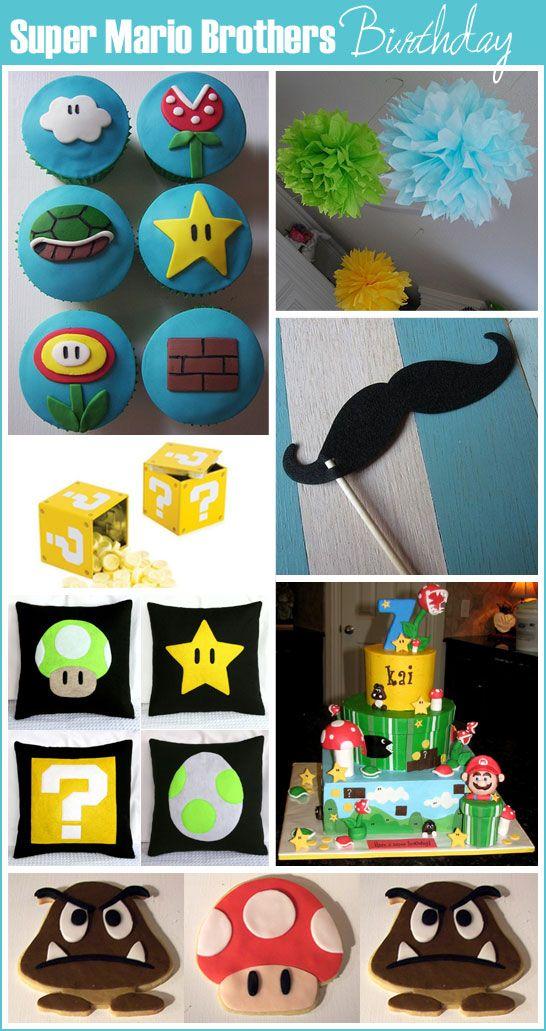 Mario: Birthday Parties, Mariobirthday, Mario Birthday, Super Mario Brother, Parties Ideas, Mario Parties, Mario Brothers, Super Mario Bros, Party Ideas