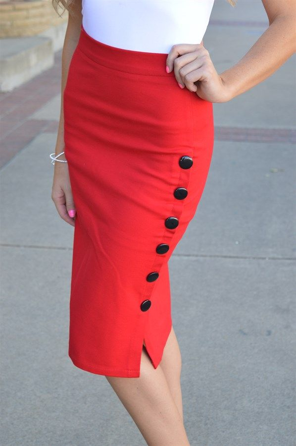 These beautiful pencil skirts are classy and fun.  They do have some stretch to them, allowing comfort with style.