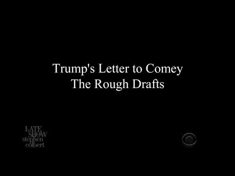 Trump's Letter To Comey: The Rough Drafts == this is so true that it's not even funny!