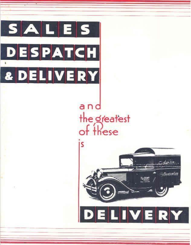 1930 1931 ? Austin Bantam Van Sales Brochure wn6260-AWQM4E | eBay