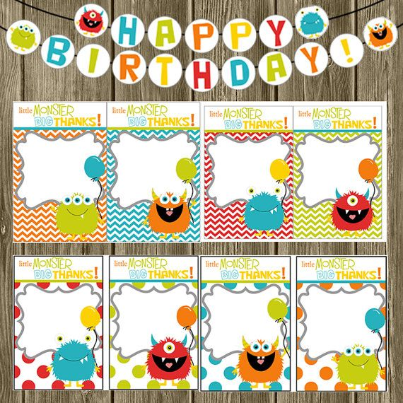 Monster Printables You Pick ONE by shelleyspaperstudio on Etsy, $8.00