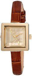 Vivienne Westwood Women's VV094GDBR Baby Cube Analog Display Swiss Quartz Brown Watch