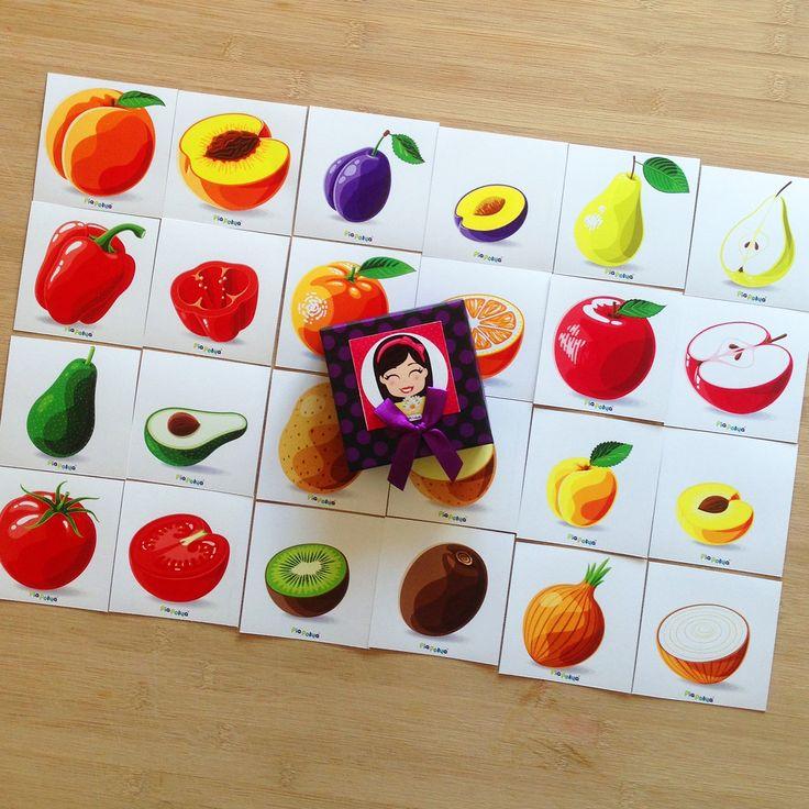 """""""Pia Polya Meyveyi-Sebzeyi Diğer Yarımı ile Eşleştirme Kartları""""  Oyun, Pia Polya'nın tüm çocuklara hediyesi olup, fikir mülkiyeti Hotalı Ambalaj Tasarımına aittir."""