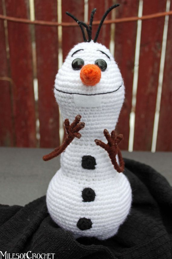 Olaf from Disney's Frozen Amigurumi Snowman by MilesofCrochet